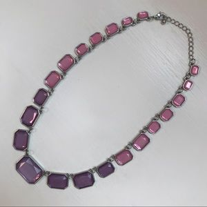 🆕 LOFT purple and pink statement necklace